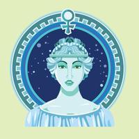 Illustration de gros plan d'Aphrodite vecteur