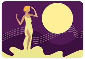 Aphrodite sur le vecteur de la mer