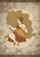 Portrait d'Aphrodite vecteur