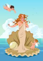 Aphrodite et Cupidon vecteur