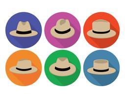 Ensemble de vecteur de chapeau Panama