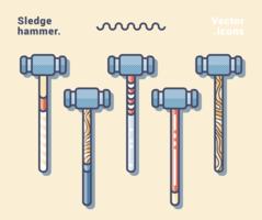 Icônes vectorielles de Sledgehammer vecteur
