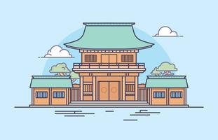 Illustration du sanctuaire japonais vecteur