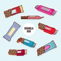 Vecteur de barre de granola