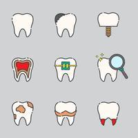 Icônes vectorielles libres de dents vecteur