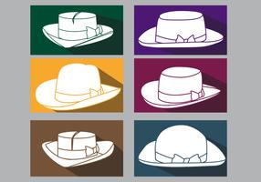 Icône plate de chapeau de Panama vecteur