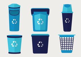 Pack de vecteur de panier de déchets
