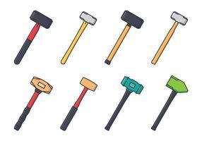 jeu d'icônes de sledgehammer vecteur