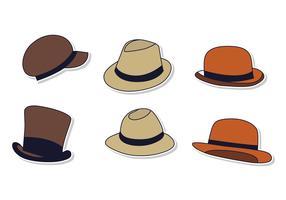 Six types de chapeau de Panama vecteur