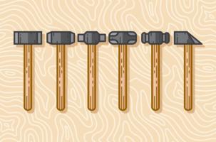 Ensemble d'icônes Sledgehammer vecteur