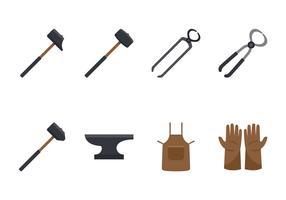 Ensemble d'outils de forgeron vecteur