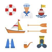 Vecteurs de matelot plat