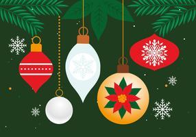 Vecteur de fond gratuit éléments de Noël