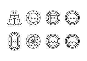 Icônes de jeu de fenêtre de navire