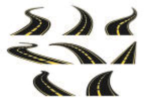 Ensemble d'icône de l'autoroute