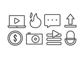 Icônes de créateur de vidéo vecteur