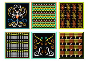Vecteur de motif Dayak traditionnel