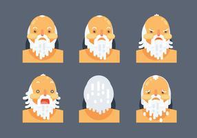 Tête de caractère Socrates plat Vector Illustration