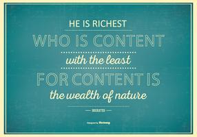 Affiche typographique avec la citation célèbre par Socrates