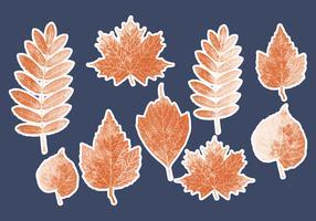 Collection de feuilles en pointillés de vecteur