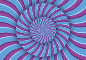 Illusion optique de l'hypnose vecteur