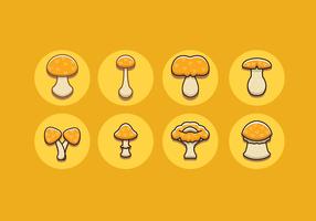 Vecteurs gratuits de champignons graisseurs vecteur