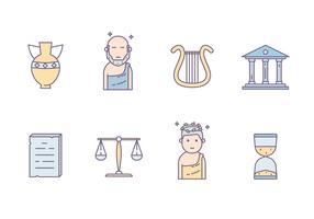 Culture grecque antique vecteur