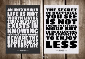 Cartes de citation typographiques Socrates