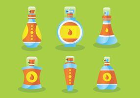 Bouteilles de parfum avec bouchons Vector Pack