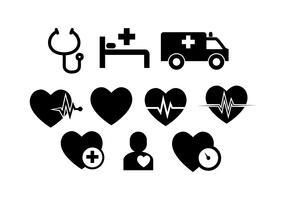 Vecteur d'icône de ligne médicale coeur gratuit