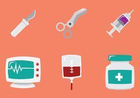 Icônes de chirurgien vecteur