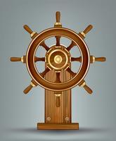 Vecteur de roue de bateaux en bois