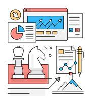 Illustrations vectorielles de croissance libre entreprise vecteur