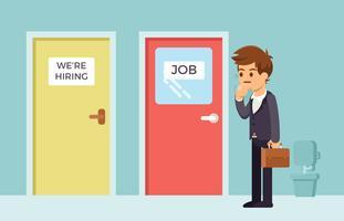 Chercheur d'emploi à la recherche d'un emploi vecteur