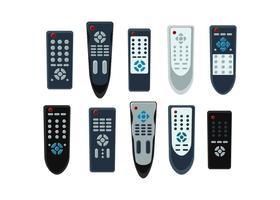 Vecteur gratuit de collection à distance de télévision