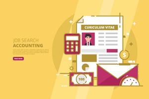 Illustration de recherche d'emploi vecteur