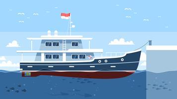 Vecteur gratuit de Trawler de stationnement