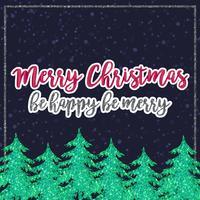 Carte de Noël de paillettes de vecteur