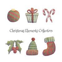 Collection d'éléments de Noël mignon