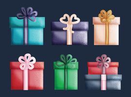 Collection de cadeaux vectoriels
