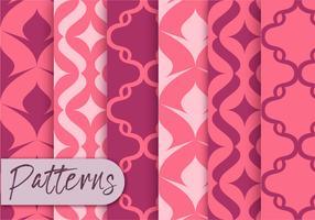 Ensemble de motifs de décor rose vecteur