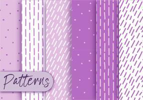 Ensemble de motifs violets