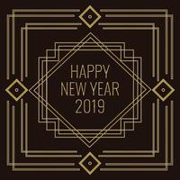 Art déco Style Vector Illustration du nouvel an