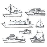 Différents types de bateaux vecteur