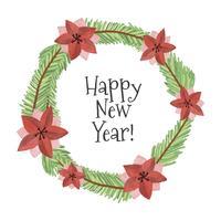 Guirlande de Noël mignon avec la nouvelle année citation vecteur