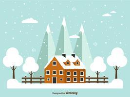 Fond de vecteur d'hiver