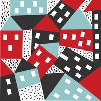 Modèle de vecteur de maison abstraite