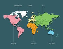 Carte globale vecteur