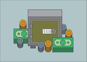 Exemple d'illustration d'argent