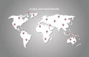 Fond de carte globale vecteur
